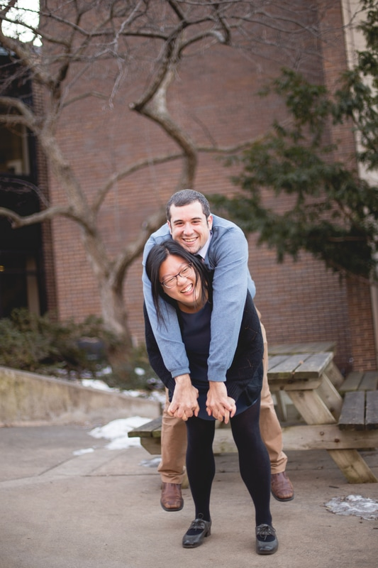 u of m engagement photos